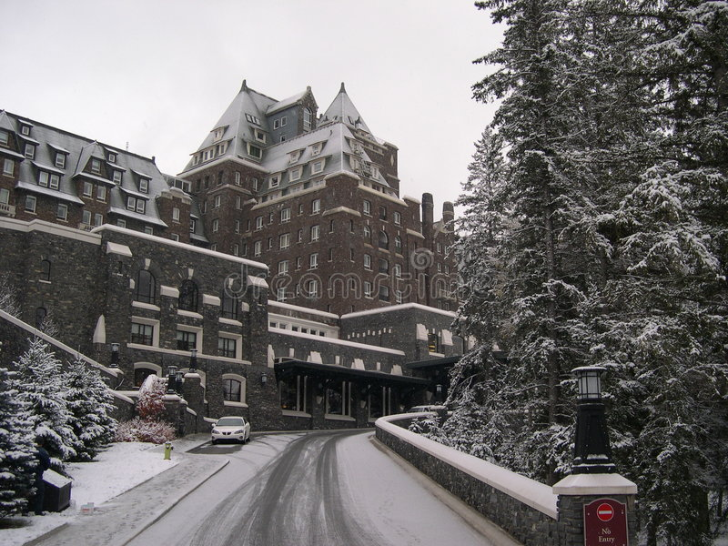 Banff Hotel 9 royalty free stock photo