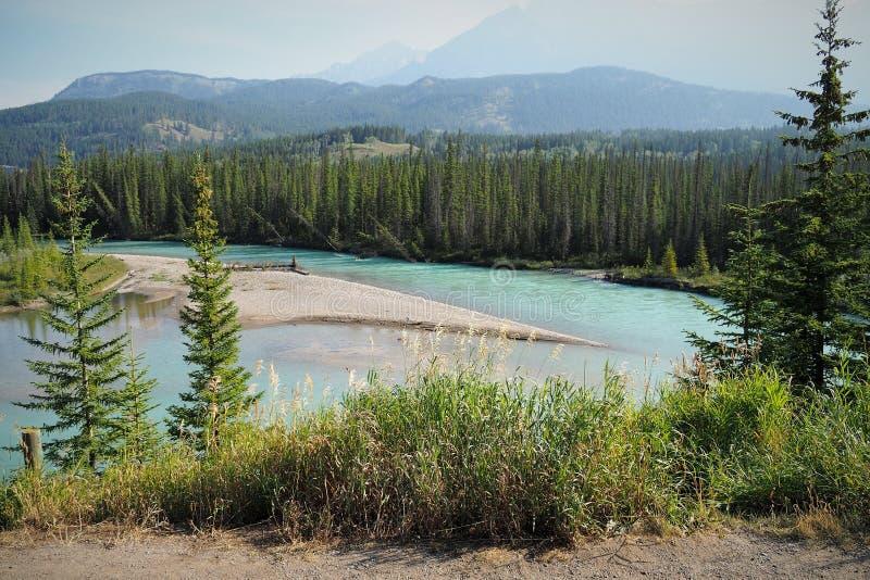 Banff nationalpark under sommar fotografering för bildbyråer