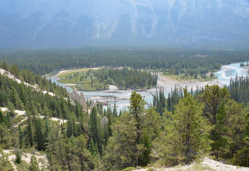 Banff nationalparkolycksbringare royaltyfria bilder