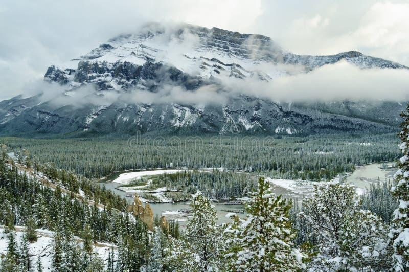 Banff Natoinal parka Rzeczny Halny śnieg zdjęcia royalty free