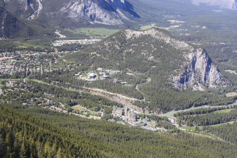 Banff panorama of Tunnel Mt royalty free stock image