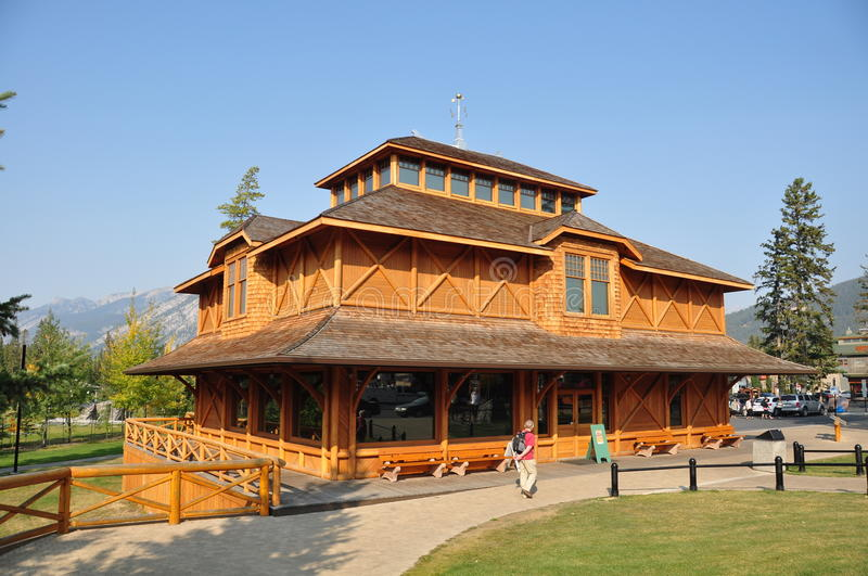Banff Park Museum National Historic Site of Canada royalty free stock photography