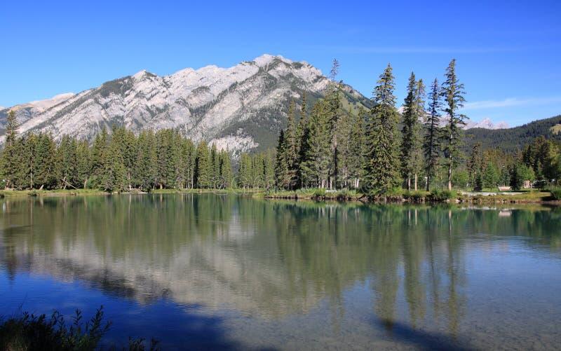 Banff - river bow royalty free stock photo