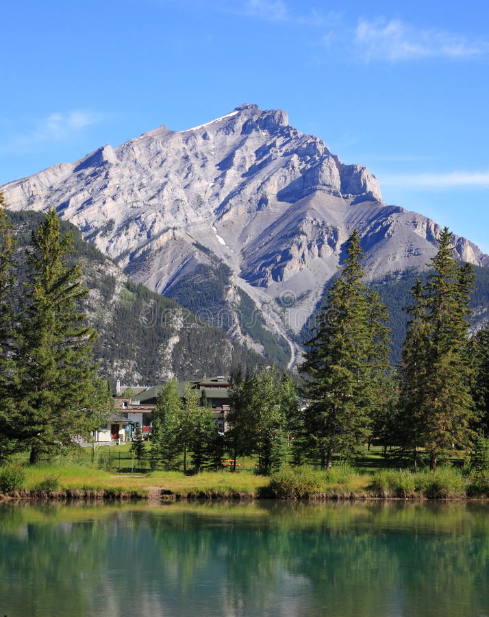 Banff - river bow royalty free stock photography