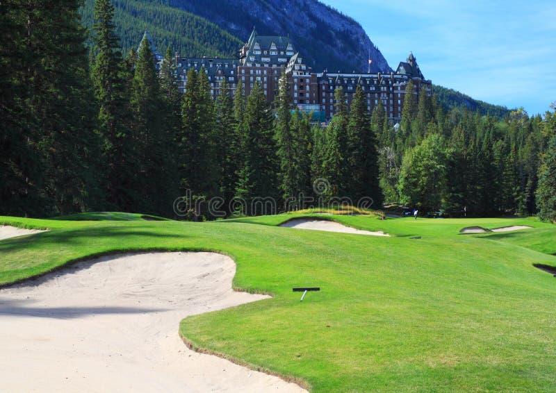 Banff Springs golfbana fotografering för bildbyråer