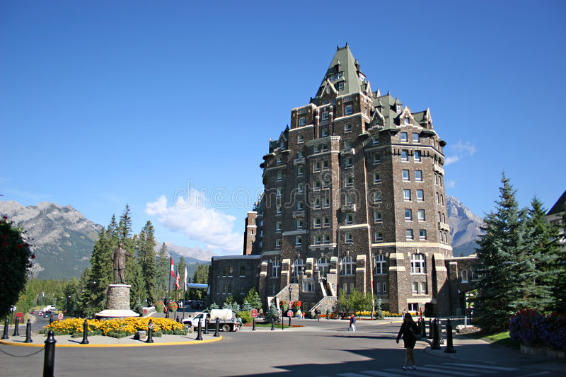 Banff Springs Hotel stock photo