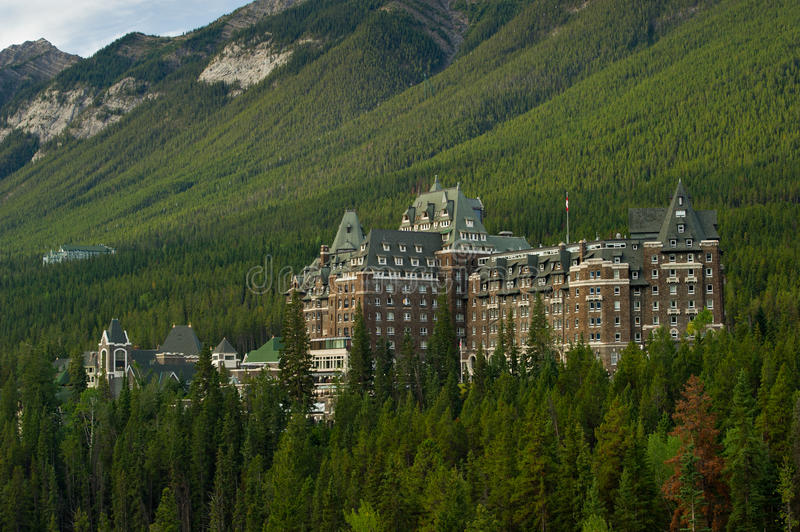 Banff Springs Hotel royalty free stock images