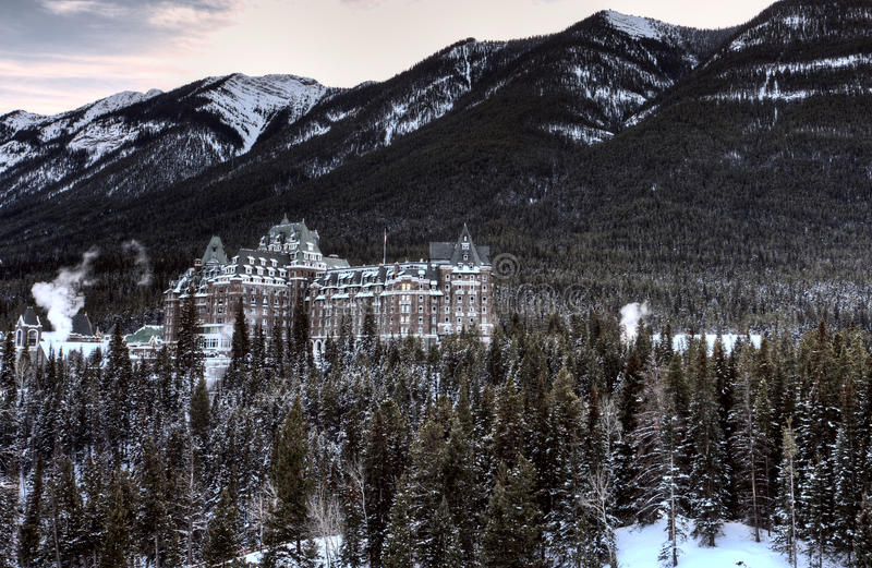 Banff Springs Hotel stock images