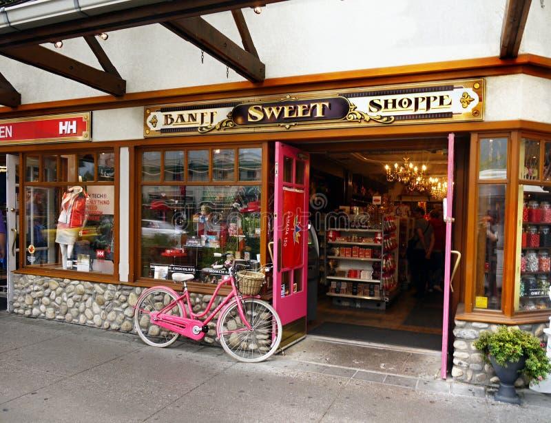 Banff-Stadtmitte stockfotos