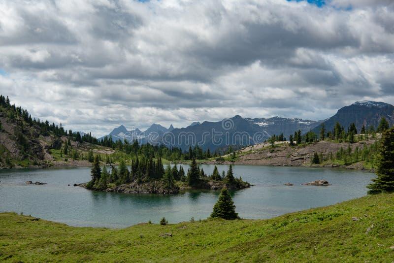 Banff Sunshine Meadows. Summit lake within the Sunshine Meadows Ski area in Banff National Park Alberta Canada stock photos