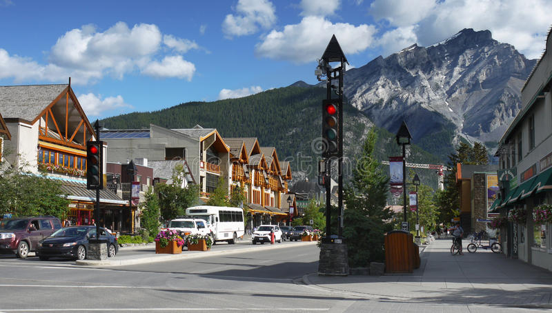 Banff Town , Alberta, Canada royalty free stock images