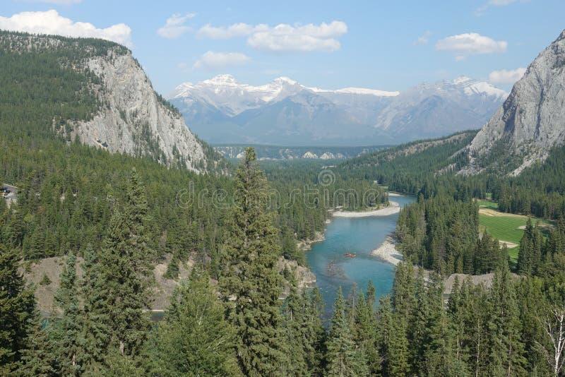 Banff utsikt arkivbild