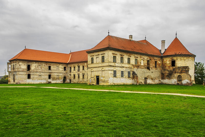 Banffy Castle. Bánffy Castle (or Bonţida Bánffy Castle) is an architectonic Baroque monument situated in Bonţida, a village in the vicinity of Cluj stock photo