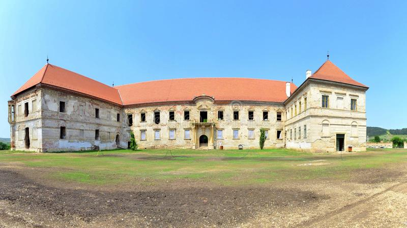 Banffy Castle. Image of the Banffy Castle ruins, the biggest castle in Transylvania, situated 30 km near Cluj Napoca royalty free stock photography