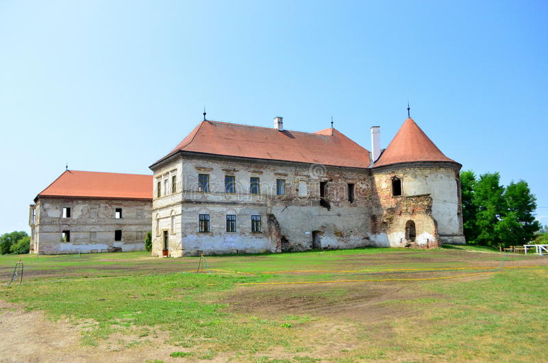 Banffy Castle. Image of the Banffy Castle ruins, the biggest castle in Transylvania, situated 30 km near Cluj Napoca royalty free stock images