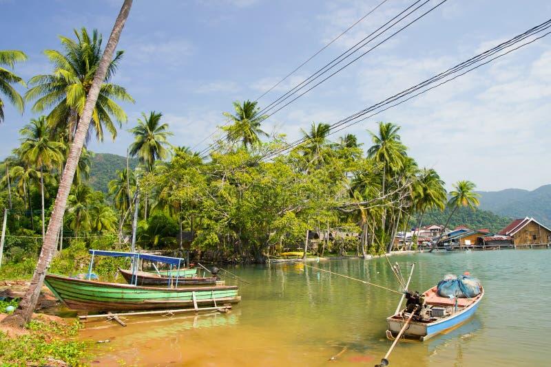 Bang Bao Bay Rural Scenery. Bang Bao Bay on Ko Chang island rural scenery in Thailand royalty free stock image