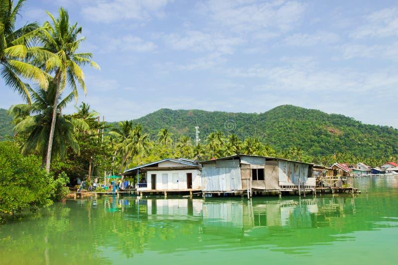 Bang Bao Bay Village. Bang Bao Bay on Ko Chang island floating village rural scenery in Thailand stock photos