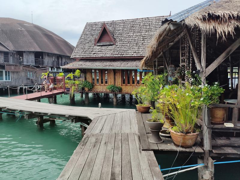 Bang Bao fishing village on the island of Koh Chang, Thailand royalty free stock image