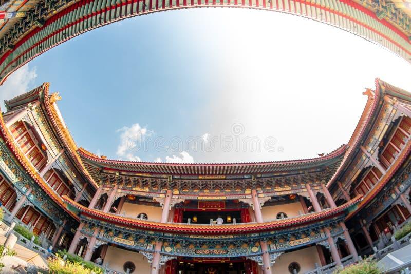 Bang Bua Thong,Nonthaburi, Thailand - 17 January 2019: Borom Racha Kanchanaphisek Temple Leng Nei Yi Temple 2 place of worship f. Or Chinese descent. Designed royalty free stock photos