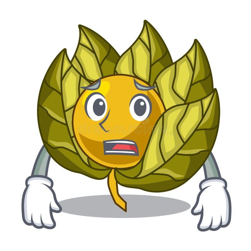 Bang die physalisfruit in het karakter wordt geïsoleerd royalty-vrije illustratie