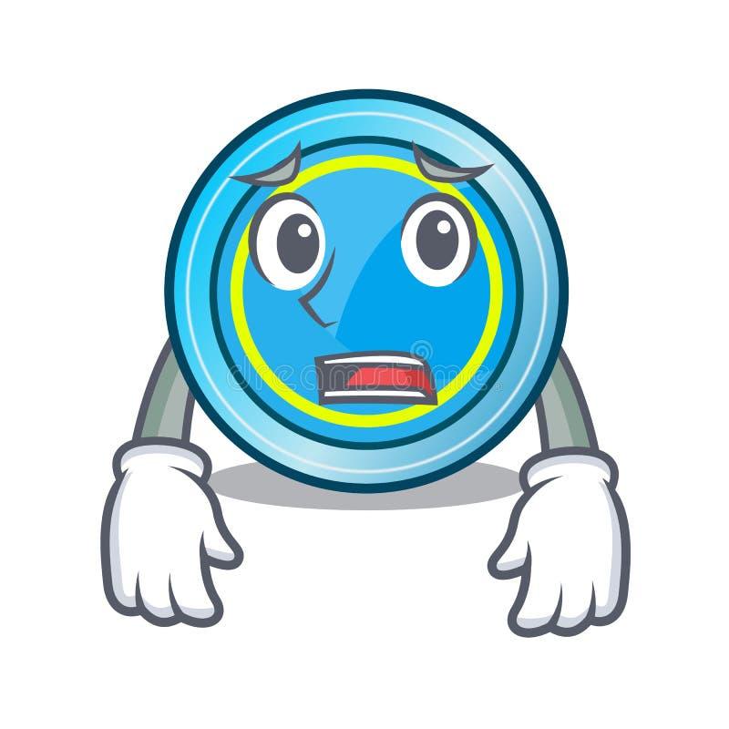 Bang frisbeespeelgoed in de karaktervorm vector illustratie