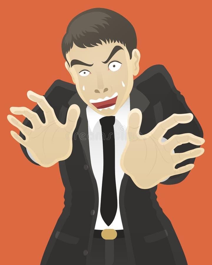 Bang gemaakte zakenman stock illustratie