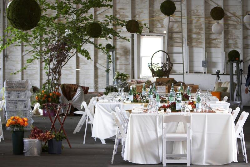 bang korporacyjny wydarzenie zestawy stołu ślub obrazy stock
