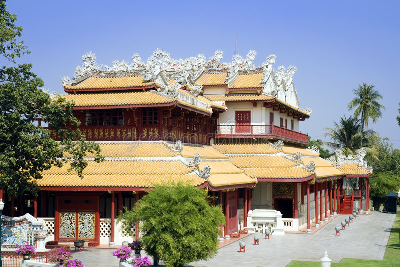 Download Bang Pa-In stock image. Image of elaborate, outside, house - 8731841