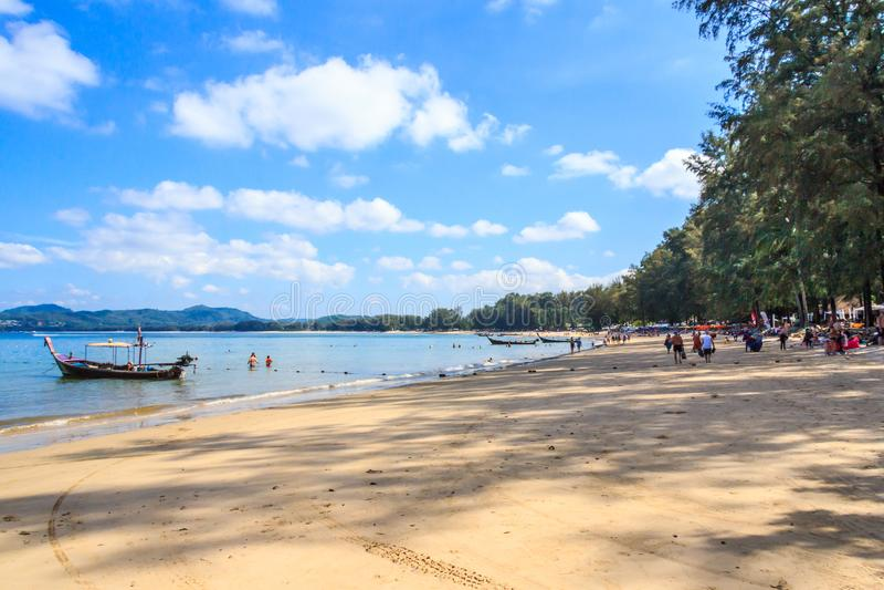 Bang Tao beach. On a sunny day, Phuket, THailand royalty free stock image