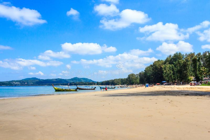 Bang Tao beach. On a sunny day, Phuket, THailand stock images