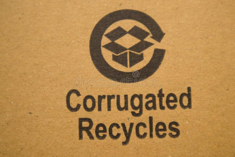BANGALORE ÍNDIA 13 de junho de 2019: Corrugado recicla impresso na placa de cartão fotografia de stock