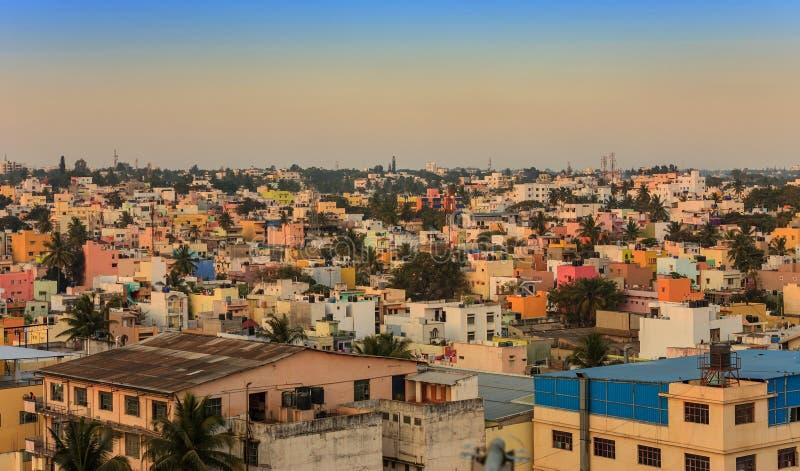 Bangalore city skyline - India. Bangalore City skyline at India stock images