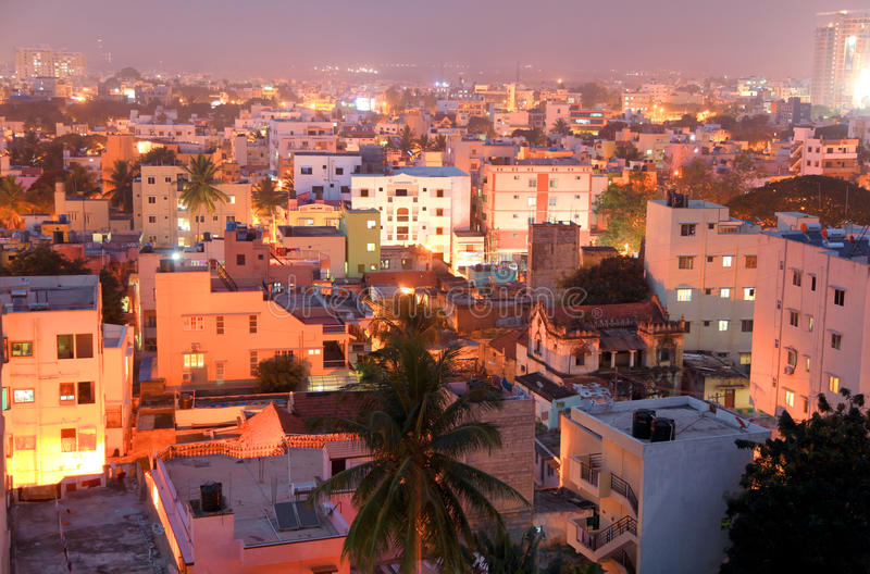 Bangalore city view. BANGALORE, INDIA - Dec 14: Bangalore city in India on Dec 14, 2015,Bangalore is known as the Silicon Valley of Indiabecause of its role as a stock images