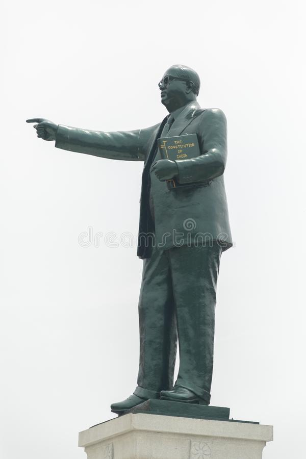 Bangalore, India - June 2, 2019 : Statue of Dr. B.R. Bhimrao Ambedkar holding Indian constitution in Bangalore, Karnataka royalty free stock images