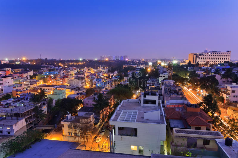Bangalore, India. Tightly house in resident zone of Bangalore City, India stock photography