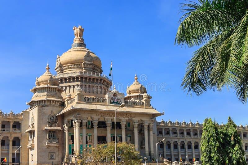 Bangalore India. Vidhana Soudha the state legislature building in Bangalore, India stock photography