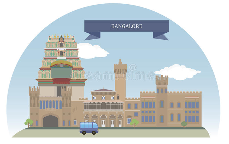 Bangalore, Indien stock abbildung