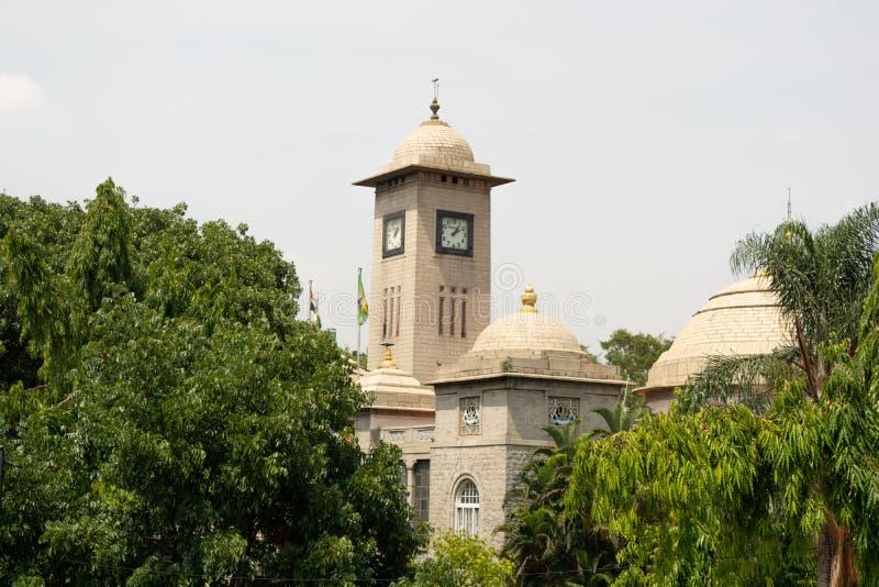 Bangalore, Karnataka India-June 04 2019 : BBMP building covered with trees Bengaluru, Karnataka.  stock photography