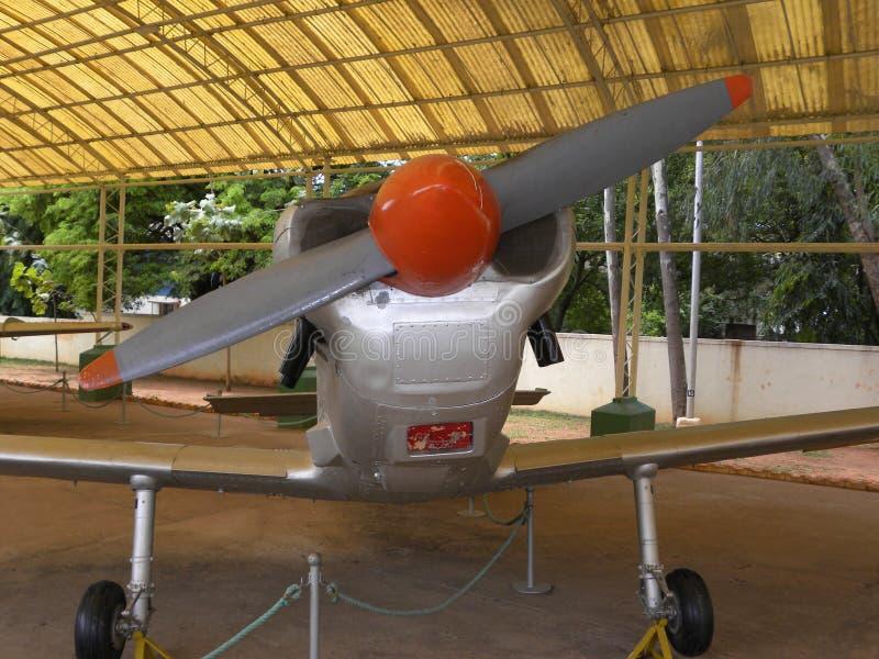 Bangalore Karnataka, Indien - Januari 1, 2009 flygplan för instruktör för Hindustan instruktör HT-2 fotografering för bildbyråer