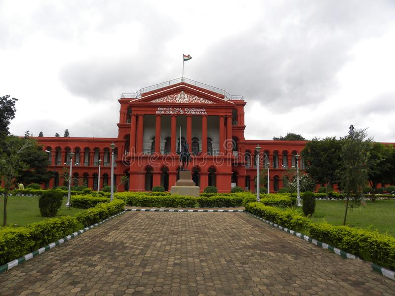 Bangalore Karnataka, Indien - September 5, 2009 Attara Kacheri, Karnataka högre domstol arkivbild