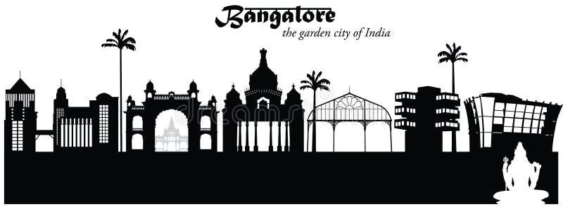 Bangalore, la India stock de ilustración