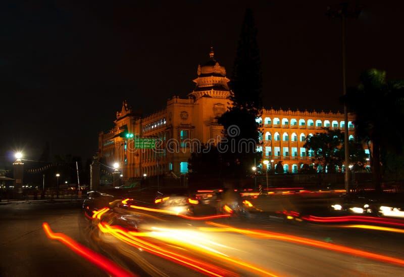 Bangalore la nuit image libre de droits