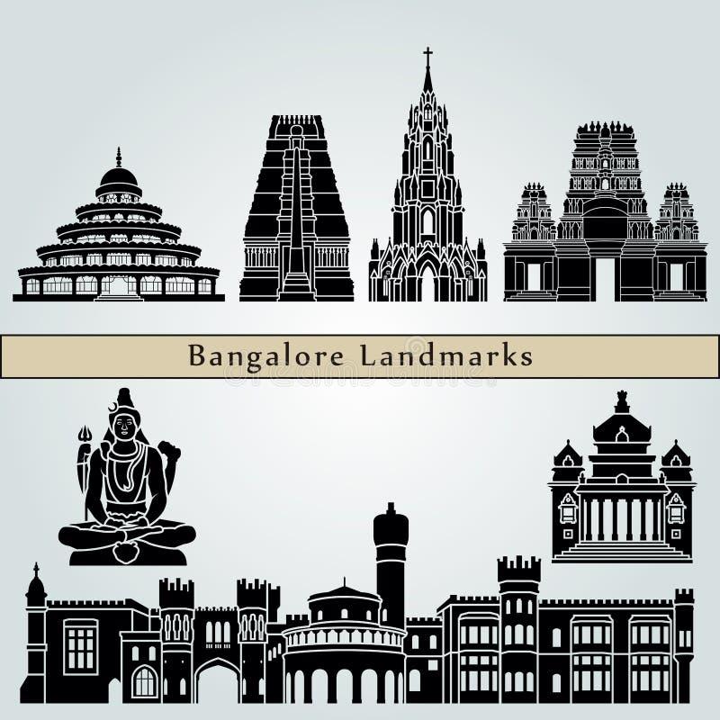 Bangalore-Marksteine lizenzfreie abbildung