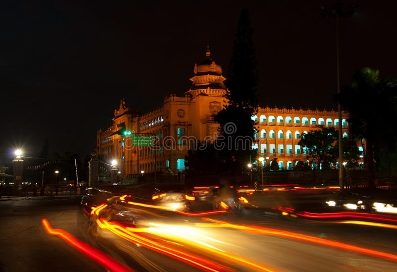 Bangalore at night royalty free stock image