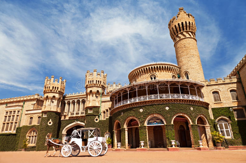 Bangalore Palace, India. Bangalore Palace, Bangalore, Karnataka state, India royalty free stock photography