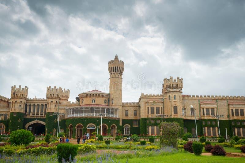 Bangalore palace, India. Cloudy day royalty free stock photography