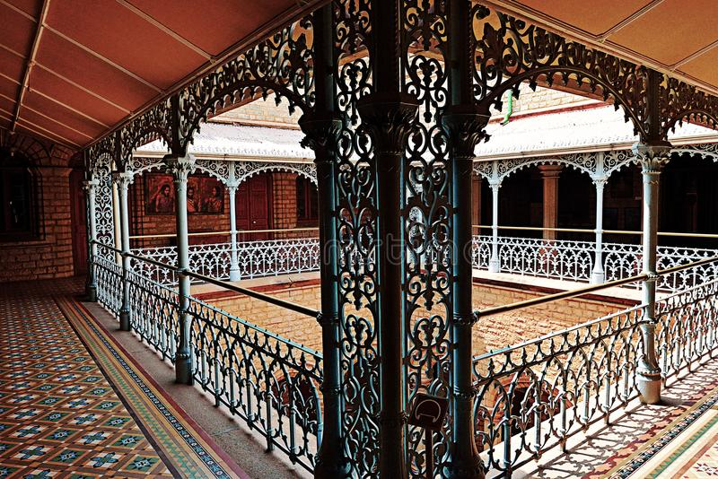 Bangalore Palace, India. Hallway of Bangalore Palace, India royalty free stock photos