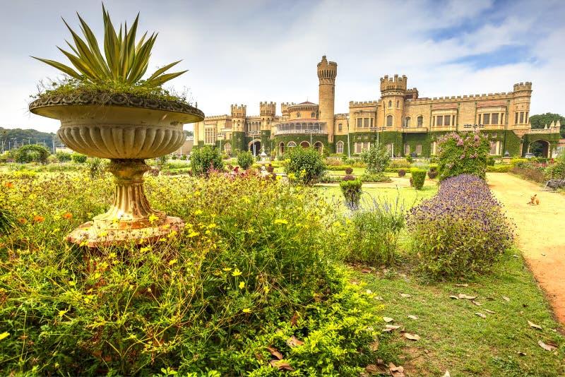 Bangalore Palace, India. Bangalore palace and his green gardens, Karnataka, India stock photo