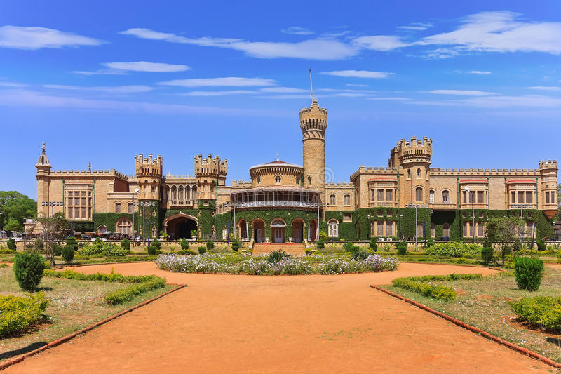 Bangalore slott, Indien royaltyfri fotografi