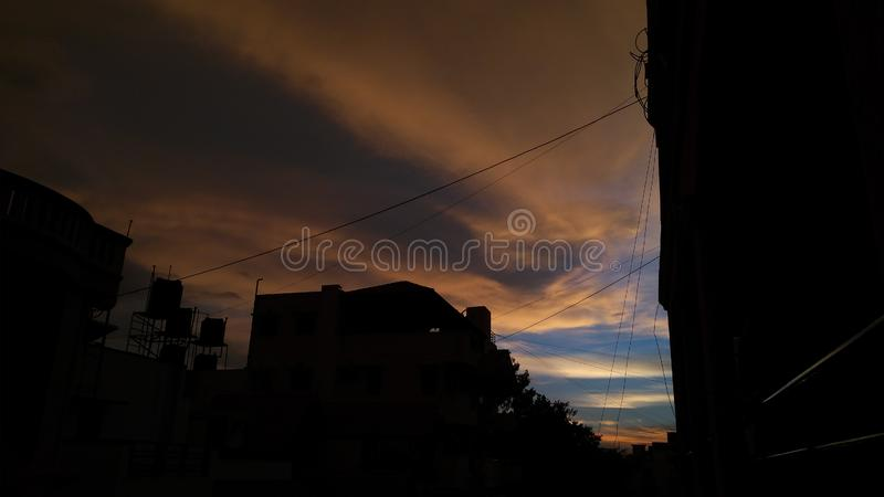 Bangalore zmierzch fotografia royalty free